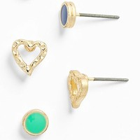 Statements DCK Stud Earrings (Set of 3) (Juniors) | Nordstrom