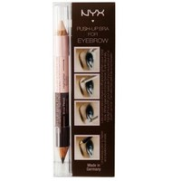 NYX Eye Brow Push-Up Bra, Lift and Draw Brown/Pale Pink Highlighter, EBPB01