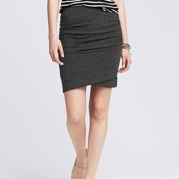 Banana Republic Womens Ruched Gray Jersey Skirt
