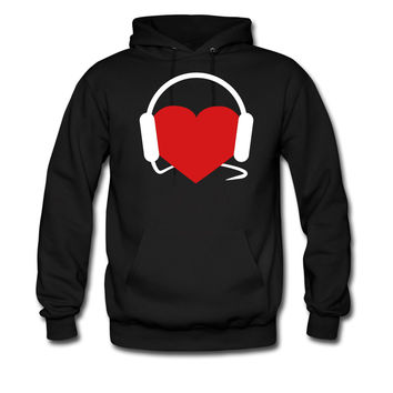 Love Music  Headphones  Heart hoodie sweatshirt tshirt