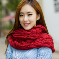 Cable Knit Winter Scarf