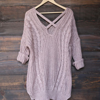 oversize cross back knit sweater - more colors