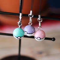 Pastel Pokemon Pokeball Charm Video Game Charm Pokemon Keychain