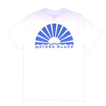 Logo Tee in White by Waters Bluff