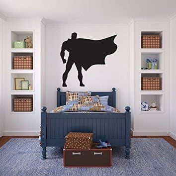 Superman Inspired Silhouette Vinyl Wall Decal Sticker Graphic