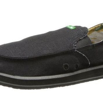 ONETOW Sanuk Pick Pocket Black Sidewalk Surfer Shoes