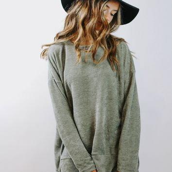 Afternoon Sage Pullover