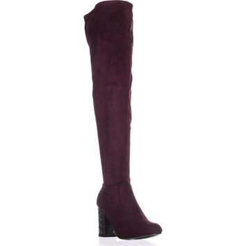 Carlos By Carlos Santana Quantum Wide Calf Over-The-Knee Boots, Malbec, 9 US / 39 EU