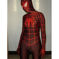 Catsuits & Zentai Lycra Spandex Red Spiderman Costume with Red Stripes Full Body [TWL110916005] - $36.99