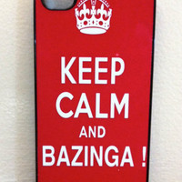 Iphone Case  Keep Calm and Bazinga iphone Cases for by fundakcases