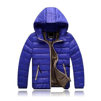 New Children Winter Kids Clothes Warm Duck Down Boys Girls Jacket Thicken Coat For Boy Girl Kids Teenage Winter Hooded Outerwear