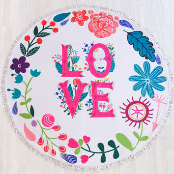 Summer Love Beach Blanket