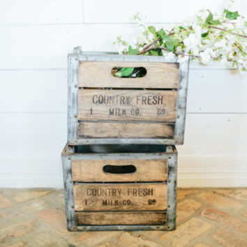 """Country Fresh"" Antique Milk Crate - The Magnolia Market"