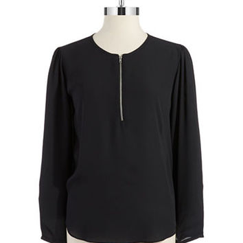 Eight Sixty Zipper Placket Blouse