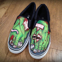 Custom Zombie feet Vans or Toms