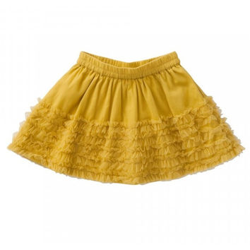 Room Seven - Girls Sikke Tulle Skirt in Mustard Yellow