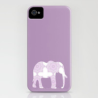 Damask Elephant in light purple on your iPhone Case - (3GS, 3G, 4S, 4)  purple color, iphone, case, robust, personalized, modern