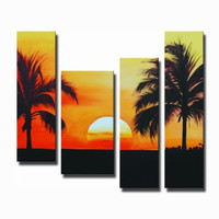 Superb Sunset Canvas Wall Art