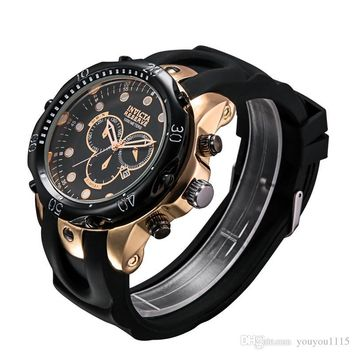 2019 Top Sell Swiss Quartz Watch INVICTA Wristwatch Stainless Steel Rose Gold Men Sport Military DZ Army Calendar Watches Silicone Stra