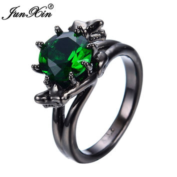 Round Green  Vintage Finger Rings Cubic Zircon Gold Filled Fashion Brand Wedding Jewelry /Jewelry Women RB0340