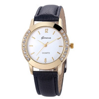 Geneva Diamond  Quartz Wrist Watch