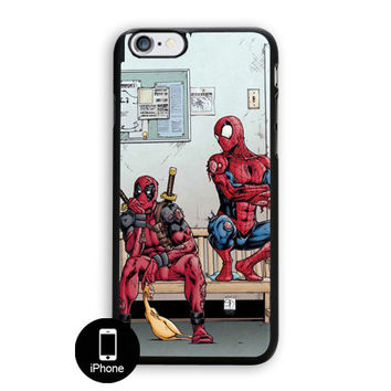 Funny Spiderman And Deadpool iPhone 5/5S Case