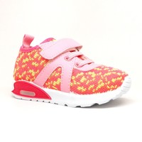 Toddler Girl Pink Sneaker with Lights