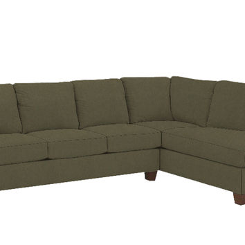 Savvy Sienna Chaise Sectional Sleeper Sofa in Lindy Chinchilla (Queen)