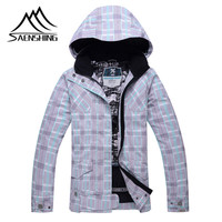 2016 Women Ski Jacket Waterproof Breathable Snowboard Jacket Women Outdoor Thermal Skiing Winter Coat High Quality Size XS -L
