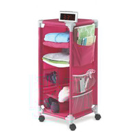 Dorm Organizer - Pink with Wheels