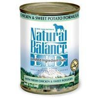 Natural Balance Limited Ingredient Diets Chicken & Sweet Potato Canned Dog Food 12-13 oz.