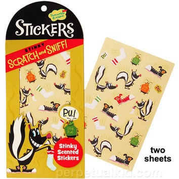 STINKY SCRATCH & SNIFF STICKERS