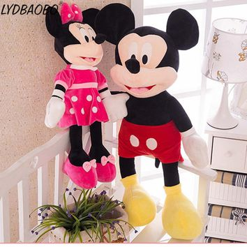 1PC Hot 40/60cm Cartoon Stuffed Mickey&Minnie Mouse Plush Baby Cute Toy Baby Animal Dolls Birthday Wedding Valentine's Day Gifts