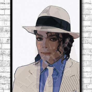 Custom portrait from photo Michael Jackson Pop art portrait Bespoke portrait Gift for her / him Personalized Friends portrait Free shipping