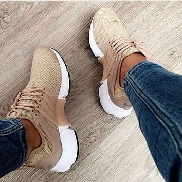 simpleclothesv :NIKE Air Presto Khaki Fashion Women/Men Running Sport Casual Cushion Shoes Sneakers