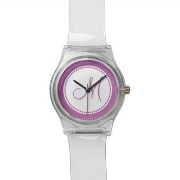 Monogrammed Radiant Orchid May28th Wrist Watch
