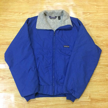 Vintage Patagonia Fleece Lined Bomber Jacket .