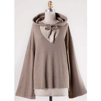 Sweet Tie Sweatshirt in Taupe