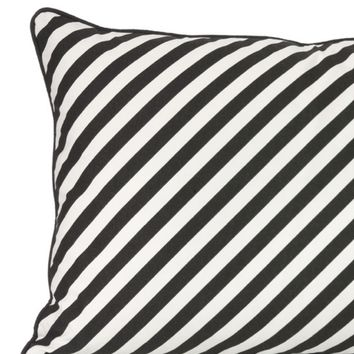 Black Stripe Organic Cushion