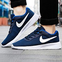 Nike New Fashion Sports Leisure Running Women Men Shoes Blue