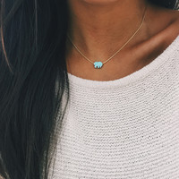 Mint Opal Ella Necklace