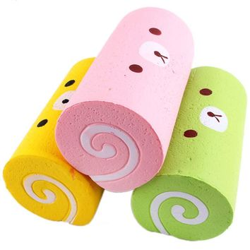 Kids Soft Squishy Cream Scented Simulation Swiss Roll Toys
