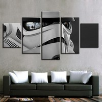 Stormtrooper Reflection Five Piece Canvas