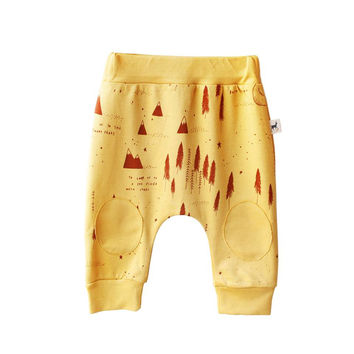 Winter Story Mustard Cotton Baby Pants