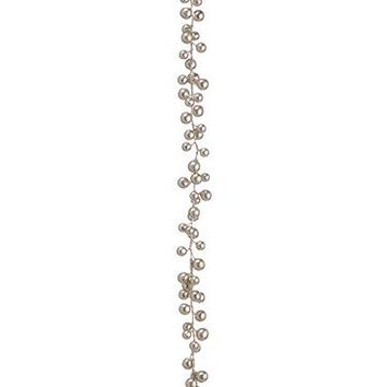 "Artificial Christmas Berry Garland in Champagne Gold - 69"" Long"