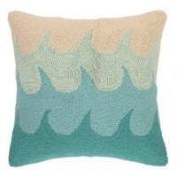Turquoise Ocean Waves Throw Pillow
