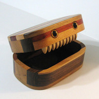 Creature Treasure Box Made Of Five Woods