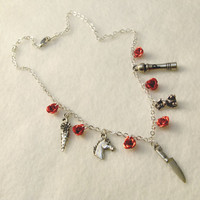 Weapons & Roses - Alice Madness Returns inspired charm necklace