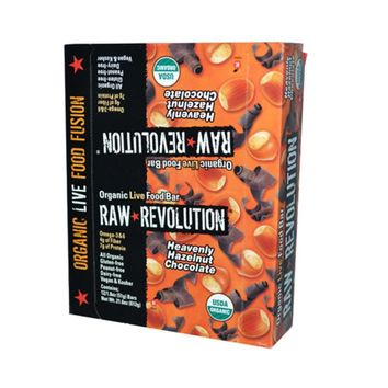 Raw Revolution Bar Organic Heavenly Hazelnut Chocolate Case of 12 1.8