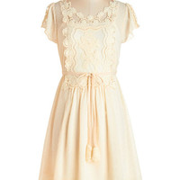 ModCloth Boho Mid-length Cap Sleeves A-line Sunlit Sweetness Dress